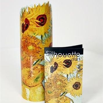 Sunflowers Ceramic Flower Vase by Van Gogh 8.5H