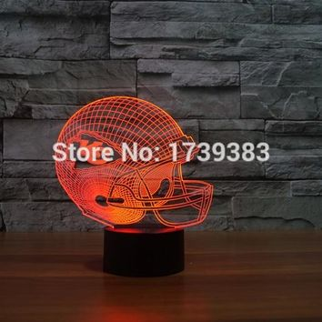 Kansas City Chiefs 3D LED Night Light NFL American Football Club Lamp USB Light Table Decor Bedside Nightlight by Touch control