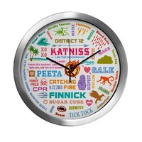Catching Fire Stuff Modern Wall Clock