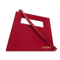 Rouge Leather Diag Bag by Jacquemus