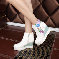 Printed Wedges Boots Women Shoes Fall|Winter 11191501