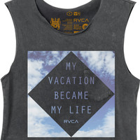 Vacation Cropped T-Shirt | RVCA