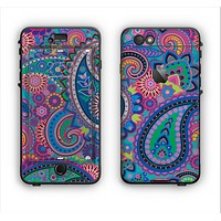 The Bold Colorful Paisley Pattern Apple iPhone 6 Plus LifeProof Nuud Case Skin Set