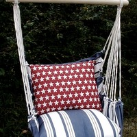 Marina Stripe Stars Hammock Chair Swing Set only $149.99 at Garden Fun - Marina Stripe Hammock Chairs