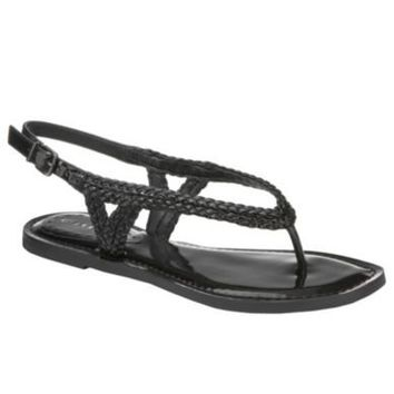 Gianni Bini Kaylin Braided Flat Thong Sandals | Dillards.com