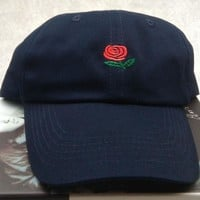 Korean Hats Winter Embroidery Red Couple Baseball Cap [11884733395]