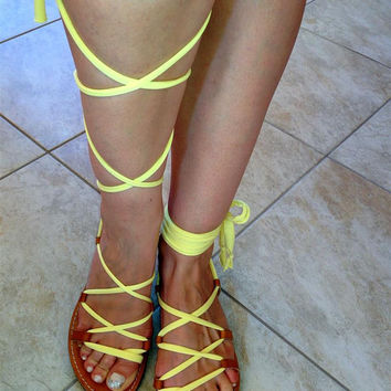 Gladiator Sandals - Lemon Jersey