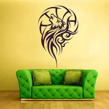 rvz1469 Wall Decals Vinyl Sticker Animals Wolf Symbol Tribal Tatoo
