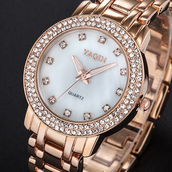Comfortable Vintage Fashion Quartz Classic Watch Round Ladies Women wristwatch On Sales = 4432525764