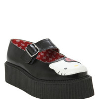 Hello Kitty T.U.K. Black Mary Jane Mondo Creepers