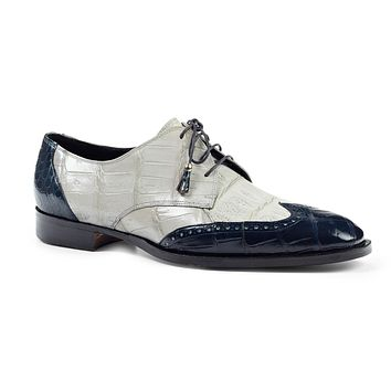 Mauri 4793 Adriano All-Over Alligator Wingtip Dress Shoes