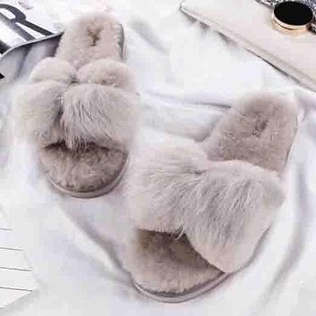 UGG Women Fashion Simple Casual Slipper Shoes