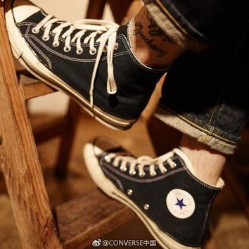 ESBON 2018 New Converse Chuck Taylors ?¡¥70 Canvas Shoes Chuck 1970s classic running shoes Thunderbolt Size 35-45 High top Casual Shoes new star Men's/Women's Canvas Shoes