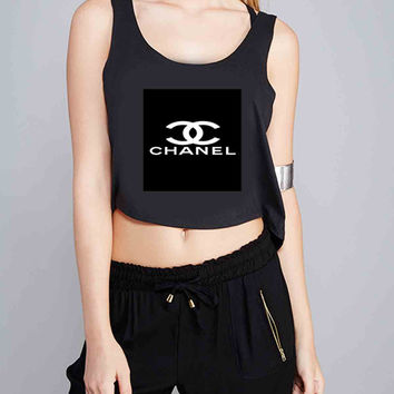Chanel color collage NenggorGanShoP for Crop Tank Girls S, M, L, XL, XXL *07*