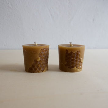 Two 100% pure beeswax candles.