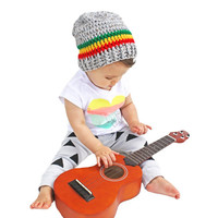Rasta Crochet Slouch Baby Beanie Any Size 0-8 Years Fitted or Slouchy style