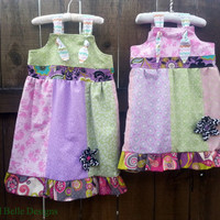YOU CHOOSE COLORS Patchwork Knot Dress for Infant/Toddler/Child