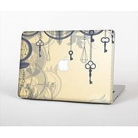 The Vintage Hanging Clocks and Keys Skin Set for the Apple MacBook Air 11""