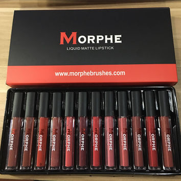 Morphe liquid matte12 color lip gloss set matte lip gloss [11405539471]