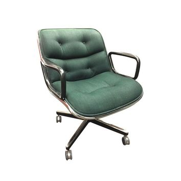Charmant Pre Owned Charles Pollock For Knoll Chair In Green Wool