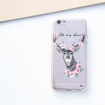 Oh My Deer - Clear TPU Case Cover