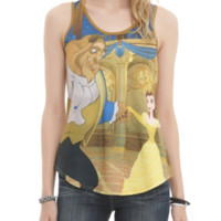 Disney Beauty And The Beast Ballroom Dance Girls Tank Top
