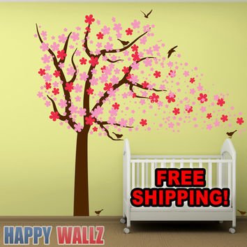 Best Cherry Blossom Tree Wall Decal Products on Wanelo