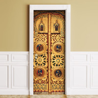 Sticker for Door / Wall / Fridge - Goldent gates. Peel & Stick Removable Mural, Skin, Cover, Wrap, Decal, Poster