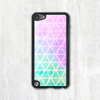 Pastel Pink & Mint Geometric iPod 5 case, iPod 5 touch case, iPod 5 cover
