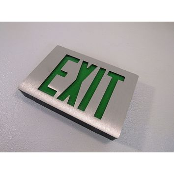Lithonia Lighted Exit Sign Two Sided LED 120 VAC 277 VAC 283062 Diecast Aluminum -- New