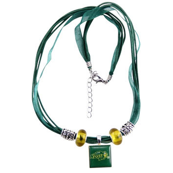 North Dakota State Bison Ladies Rings Ribbon Lifetile Necklace