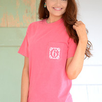 Page 6 Logo Tee- Coral