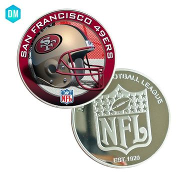 Christmas Souvenir Gifts SAN FRANCISCO 49ERS NFL American Sport Team Coin Football Commemorative Metal Coin