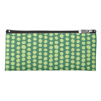 green Polka Dots Pencil Case