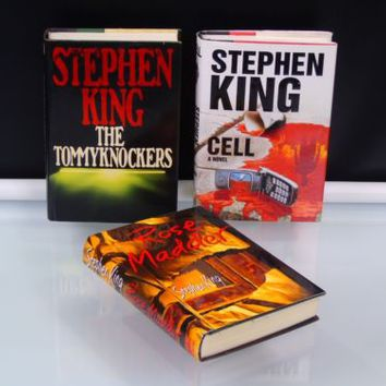 Stephen King Books Bundle Hardcover Cell Rose Madder The Tommyknockers