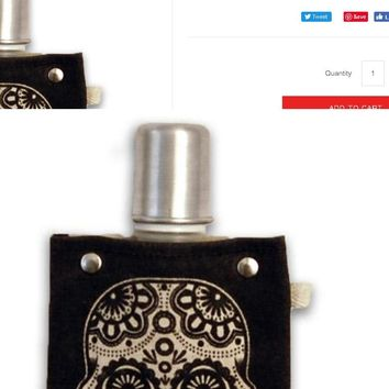 Sugar Skull - Canvas Flask 120ml