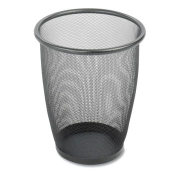 """safco products company steel mesh wastebasket, 5 gallon, 13""""x14-1/2"""", black Case of 2"""