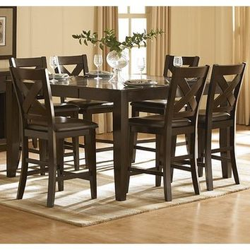 Homelegance Crown Point 5 Piece Counter Height Dining Room Set