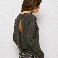 DON'T ASK WHY PLUSH OPEN BACK SWEATSHIRT