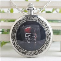 Soul pirates Vintage Bronze, silver Flip clock pendant Good quality woman and men steam punk gift Pocket watch necklace