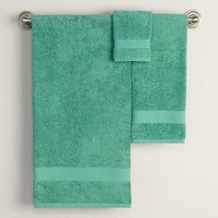 Beryl Green Bath Towel Collection