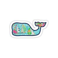 Lilly Pulitzer Whale by kristenk14