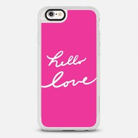 Hello Love Glamour Pink iPhone 6s case by Lisa Argyropoulos | Casetify