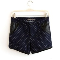 Autumn&Winter New Printing Joint Slim Woolen Shorts,Cheap in Wendybox.com