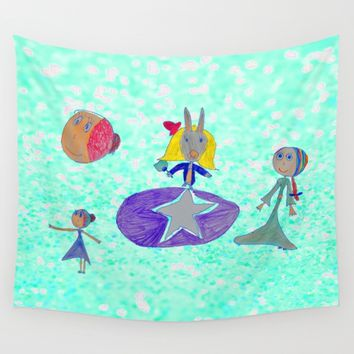 Alice | Up to the light sky Wall Tapestry by Azima