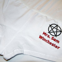 Supernatural Sam Winchester Panties. Mrs. Sam Winchester. Customize By Size, Color and Style.