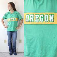 "Vintage Retro ""Oregon"" Ducks Track Shirt"