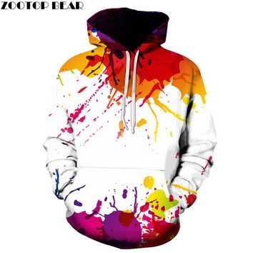 Splashed Paint 3D Hoodies Women Sweatshirts Men Pullover Plus Size Spring Autumn Causual Fashion Tracksuit Brand Quality Jacket