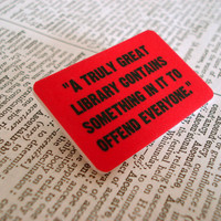 Offensive Books  quote brooch by bookity on Etsy