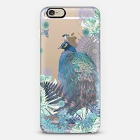 PEACOCK TIFFANY MINT Crystal Clear iPhone Case iPhone 6 case by Monika Strigel | Casetify